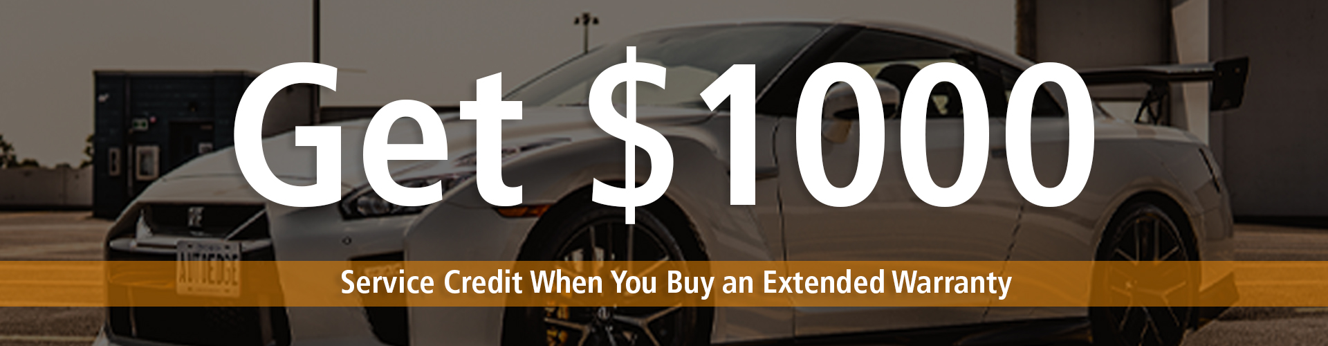 Get $1000 AutoEdge Service Credit when you buy an Extended Warranty on any AutoEdge Vehicle. We sell & service all makes & models.