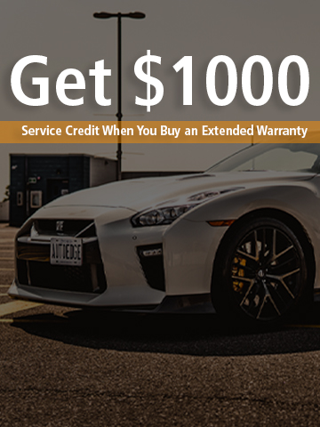Get $1000 AutoEdge Service Credit when you buy an Extended Warranty on any AutoEdge Vehicle